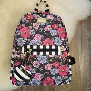 New Betsey Johnson Floral LBDana Backpack